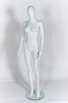 Plastic Female Mannequin white With Egg Head