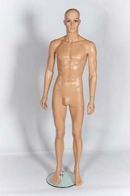 Plastic Male Mannequin With Make Up (Fleshtone)