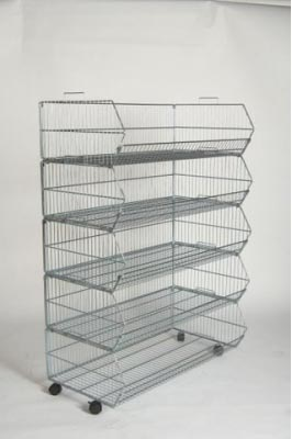 1000mm x 540mm 5 Base Baskets (each with 4 wheels)