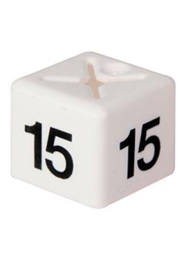 Unisex Coat Hanger Size Cubes – 15 White pack of 50