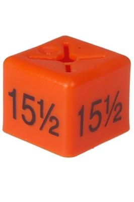 Unisex Coat Hanger Size Cubes – 15½ – Orange pack of 50