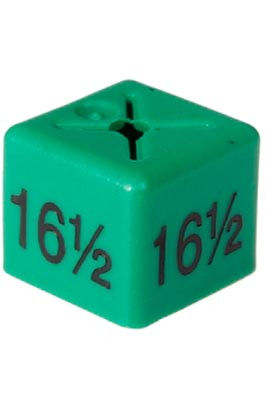 50 X Unisex Coat Hanger Size Cubes – 16½ – Green