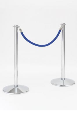 Crowd Control Barrier Post for Rope Chrome