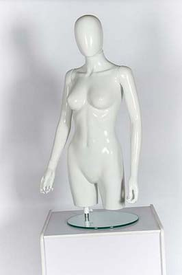 Female Torso Egg Head With Arms – Matt White