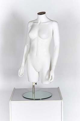 Female Torso With Arms – Matt White