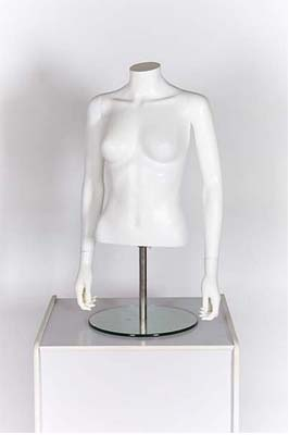 Female Upper Torso With Arms – Matt White