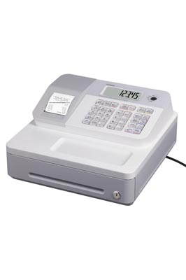 White Casio SE-G1 Cash Register Till With 20 Roll