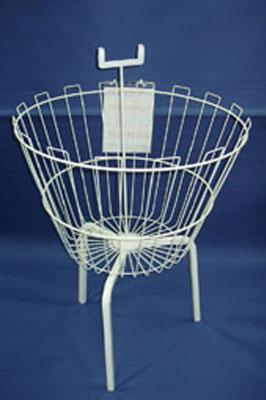 Round Dump Bin / Basket Display with Ticket Holder