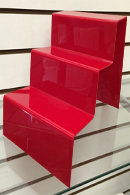 3 Step Red Shoe Stand