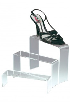 3 Step Clear Shoe Bridge Stand