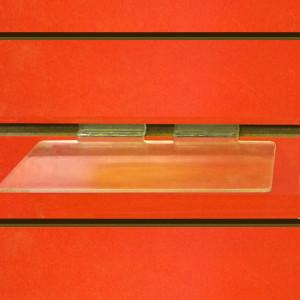 Slat wall fix Clear Display Shelf