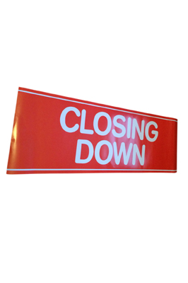 4 X  Sale Signage Posters For Shop  Closing Down