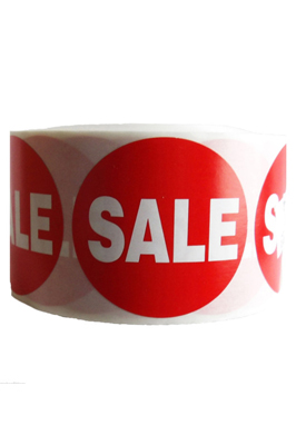 500 X Red Sale Self Adhesive Price Stickers Labels