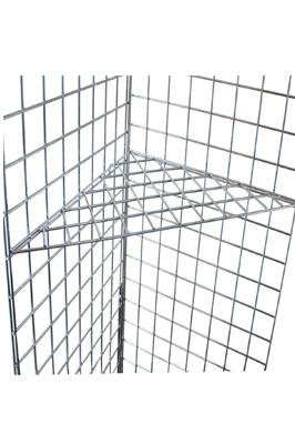 Grid Wall/ Mesh Chrome Triangular Shelf
