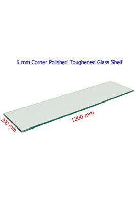 Toughened Glass Shelves (1200 X 200 X 6mm)
