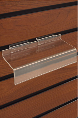 Clear Display Shelf With Price Lip