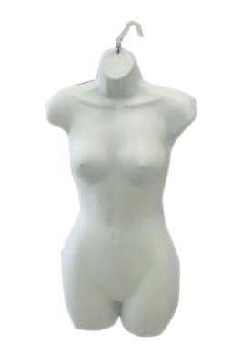Female Torso Fullbody Half Round – White