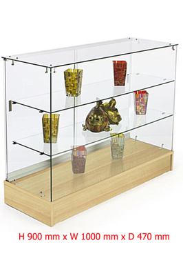 Maple Base Lockable Display Counter Cabinets