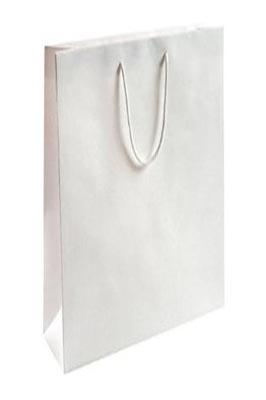 50x Luxury Gloss Paper Bags M White 330 x 400 x 130mm