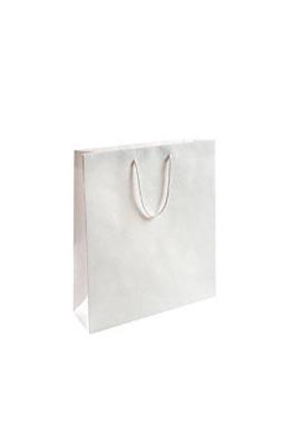 50 X  Luxury Gloss Paper Bags (S White 300 x 250 x 100 mm)
