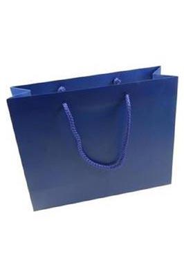 50 X Luxury Gloss Paper Bags (L Blue 460 x 420 x 120 mm)