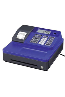 Blue Casio SE-G1 Cash Register Till With 20 Roll