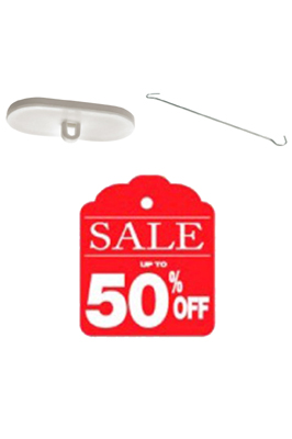 4 x Double Sided Sale Up To 50% Off Sign Card Banners