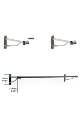 2 x 32mm Projection Bracket