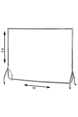 Chrome (3ft x 5ft) Heavy Duty Garment Rail
