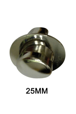 2 x End Cap With Flange 25mm