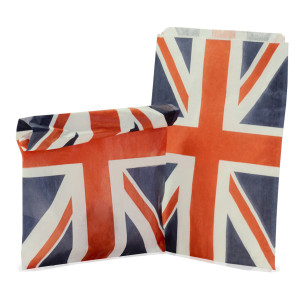 CANDY STRIPE PAPER BAGS – UNION JACK (7″ x 9″)