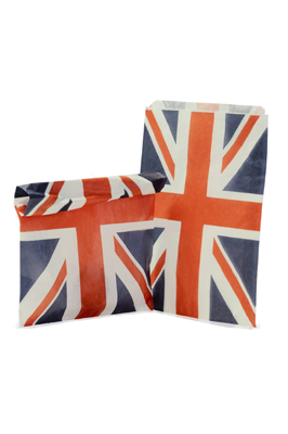 Candy Stripe Paper Bags – Union Jack (8″ x 11″)