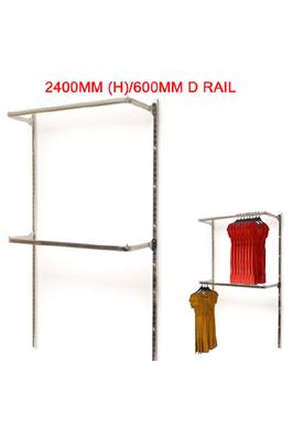 Twin Slot 2400mm (H)/600mm Double D Rail