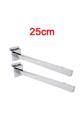 Glass Shelf Brackets (Pair)- 25cm