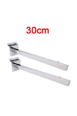 Glass Shelf Brackets (Pair)- 30cm