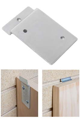 Chrome Slatwall Backplate – Picture Hanging