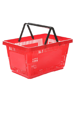 Brand New Red 21 Litre Plastic Shopping Basket