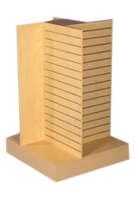 Maple Slat Tower 4- Way Display Unit