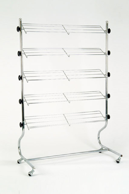 5 Tier Chrome Shoe / Footwear Display Rack