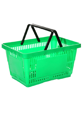 New Green 21 Litre Plastic Shopping Basket