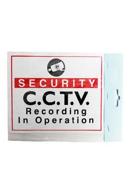 Shop Window Self Adhesive Sticker- Security CCTV