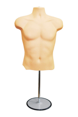 Skin Colour Male Mannequin Half Body Top Stand