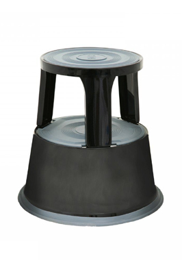 Black Heavy Duty Metal Kick Step Stool