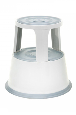 Light Grey Heavy Duty Metal Kick Step Stool