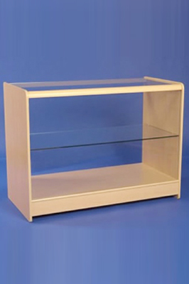 Maple Effect Wooden Glass Fronted Showcase 1200mm