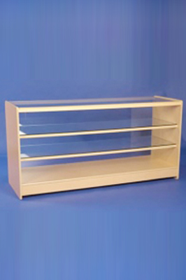 Maple Effect Wooden Glass Fronted Showcase 1800mm