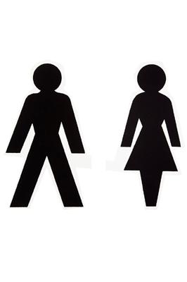 Shop Window Self Adhesive Sticker – Male/ Female
