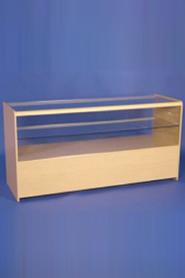 Maple Effect Wooden Half Glass Showcase 1800mm