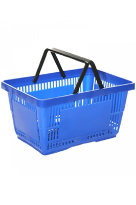 Brand New Blue 21 litre Plastic Shopping Basket