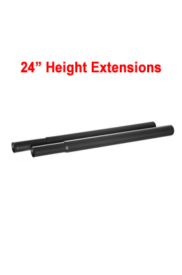 24″ Extension Poles For Garment Clothes Rail